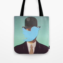 The Man with the Bowler Hat Tote Bag