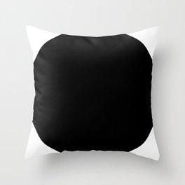 LINEd_FullCircle_BW Throw Pillow