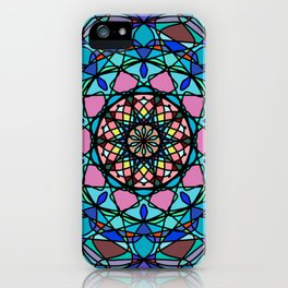 Round ornament in ethnic style iPhone Case