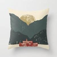 boat Throw Pillows featuring Boat by James White