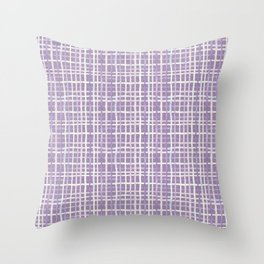 Violet Gingham Throw Pillow