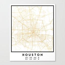 HOUSTON TEXAS CITY STREET MAP ART Canvas Print