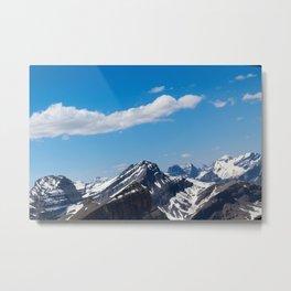 Dreamy Mountain Tops Metal Print
