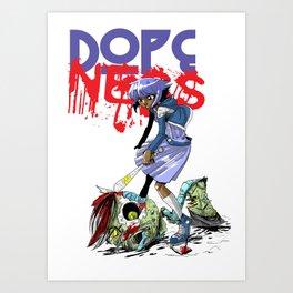 Damn Zombie Hipsters Art Print