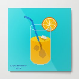 Orange Drink Metal Print