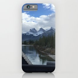The Three Sisters, Canmore, Canada  iPhone Case