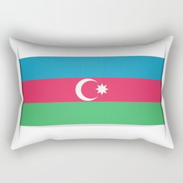 Flag of Azerbaijan. The slit in the paper with shadows.  Rectangular Pillow