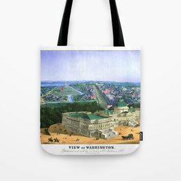 WASHINGTON city old map Father Day art print poster Tote Bag