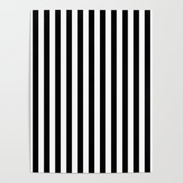 Stripe Black And White Vertical Line Bold Minimalism Stripes Lines Poster