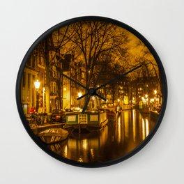 Amsterdam canals Wall Clock