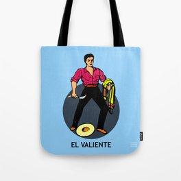 El Valiente Mexican Loteria Card  Tote Bag