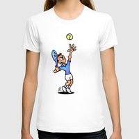 tennis T-shirts featuring Tennis by Cardvibes.com - Tekenaartje.nl