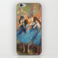 degas iPhone & iPod Skins featuring Blue Dancers by paulina anciola