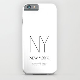 New York City Coordinates N1046 iPhone Case