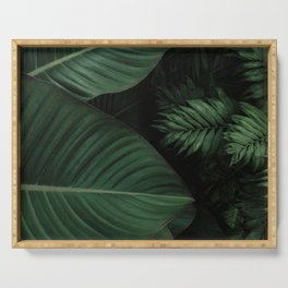 Tropical Beauty // Tropical Boho Leaves meets Minimalist Patterns Serving Tray