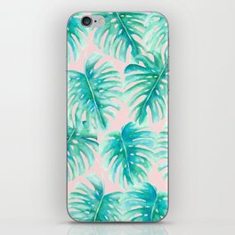 Paradise Palms Blush iPhone Skin