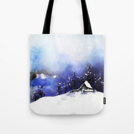 Snow Village Tote Bag