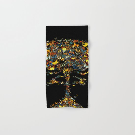 Atomic Butterfly Hand & Bath Towel