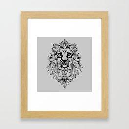 Heraldic Lion Head Framed Art Print