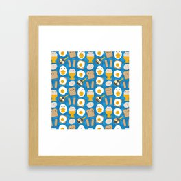 Kawaii Eggs For Breakfast Framed Art Print