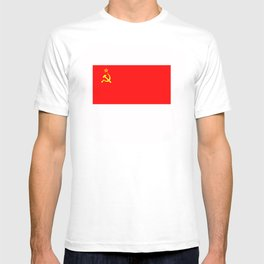 ussr cccp russia soviet union communist flag T-shirt