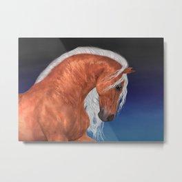 Golden Stallion .. fantasy horse Metal Print