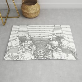 Apollo Rocket Engine Booster Rug