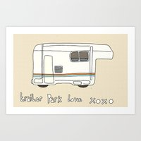 trailer park boys Art Prints featuring Trailer Park Love 2 by frithastrickland