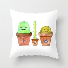 Magic Cacti Throw Pillow