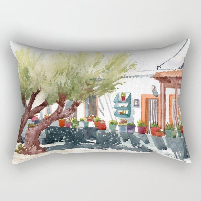 Front garden in Haraki Rectangular Pillow
