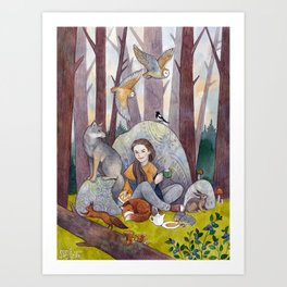 Tea in the Forest Art Print