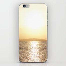Sunset over Western Harbour Leith Edinburgh iPhone Skin