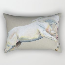 Cantering Cremello Rectangular Pillow