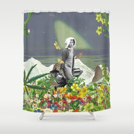 Trudge through a Fertile Field Shower Curtain