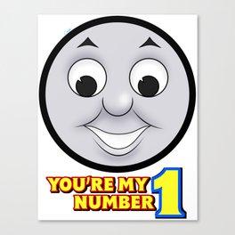 Thomas You're my #1 Canvas Print