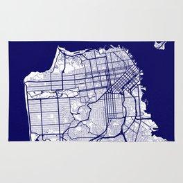 San Francisco City Map 02 Rug