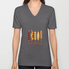 I Love Street Food Corncob - Corn Dogs Unisex V-Neck