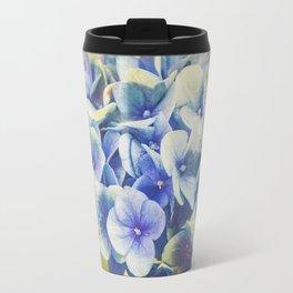 Vintage Blue Hydrangea Travel Mug