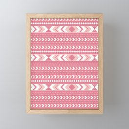 Summer Tribal Arrow Boho Pattern #2 #aztec #decor #art #society6 Framed Mini Art Print