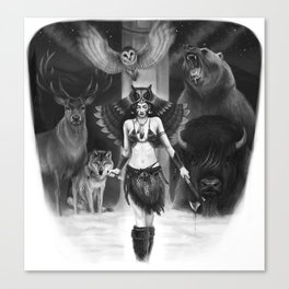Owl Totem Canvas Print