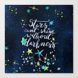 Stars and darkness Canvas Print