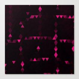 Pink triangulation Canvas Print