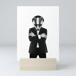 Blues badger Mini Art Print