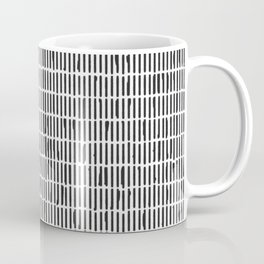 Black & White Hand Drawn Stick Pattern Coffee Mug