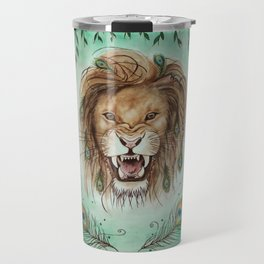 Peacock lion head Travel Mug