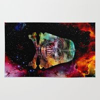 darth Area & Throw Rugs featuring Darth Cosmos by Beery Method