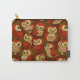 Northern Saw-whet owls pattern. Carry-All Pouch