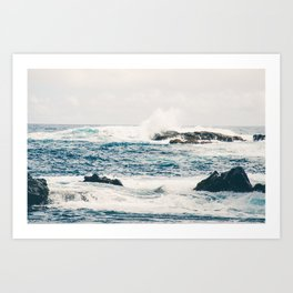 Rough Waters on the Coast of Maui Art Print