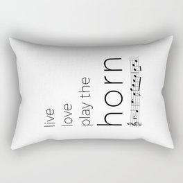 Live, love, play the horn Rectangular Pillow