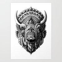 bison Art Prints featuring Bison by BIOWORKZ
